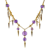 Victorian Amethyst & Diamond Enameled Festoon Necklace