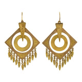 Victorian Large Dangling 15kt Gold Earrings