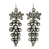 Victorian 18kt & Sterling Drippy Diamond Earrings 2.50ctw