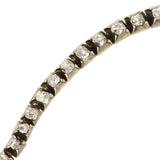 Victorian Sterling Topped 18kt Mine Cut Diamond Line Bracelet 2.25ctw