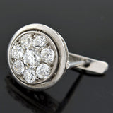 Edwardian 18kt Mine Cut Diamond Cluster Earrings 2.00ctw