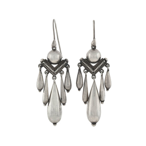 Victorian Sterling Silver Hanging Vessel Earrings