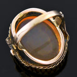 Retro 14kt Large Jelly Opal Ring