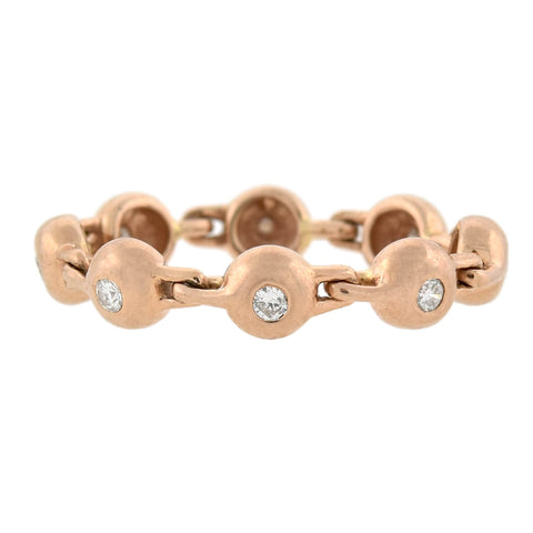 Retro 14kt Rose Gold + Diamond Hinged Ring 0.25ctw