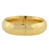 Vintage 14kt Yellow Gold Hinged Bangle Bracelet