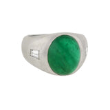 Vintage Platinum Natural Emerald & Diamond Ring 5ct