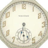 WALTHAM Art Deco Huge 14kt Etched Pocket Watch Pendant