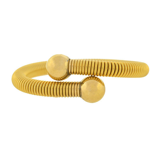 Retro Gold-Plated Flexible Gas Pipe Bypass Bracelet