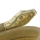 Art Deco German Gilded Silver Flexible Wrap-Around Coiled Snake Bracelet