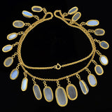 Late Victorian 18kt Moonstone Graduated Festoon Necklace