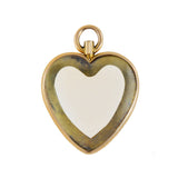 Victorian English 15kt Rock Quartz Crystal Double-Sided Heart Locket Pendant