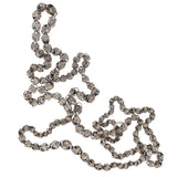 Early Victorian Handwrought Sterling Silver Ornate Link Chain Necklace 41.5