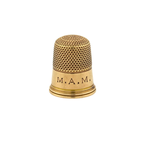Edwardian 14kt Yellow Gold Thimble in Original Box