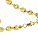 Vintage Gold-Plated Sterling Anchor Link Chain Necklace 29