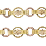 Victorian Gold-Filled Two-Tone Watch Chain + Toggle 10.75