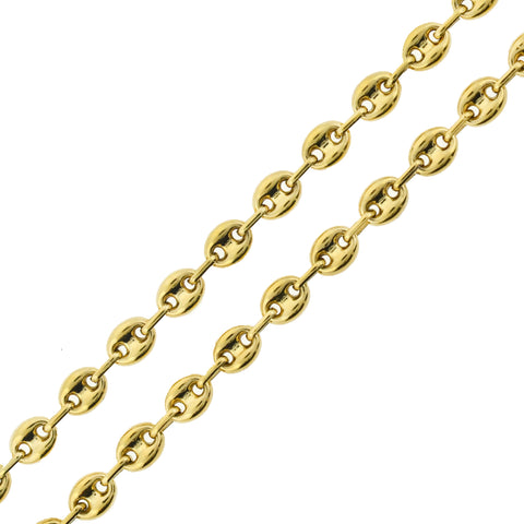 Vintage Gold-Plated Sterling Anchor Link Chain Necklace 29""