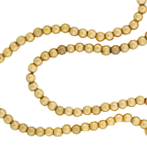 Victorian 14kt Yellow Gold Bead Necklace 27.5""