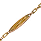 Art Nouveau Long Gold-Filled Twisted Link Muff Chain w/ Watch Swivel Clasp 45.5