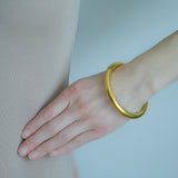 Estate 14kt Gold Over Resin Bangle Bracelet