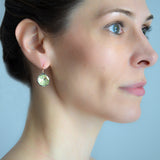 Georgian Style 14kt/Sterling Foil-Backed French Paste Earrings