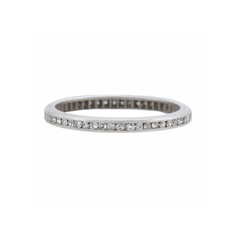 Late Art Deco Platinum Diamond Eternity Band 0.50ctw