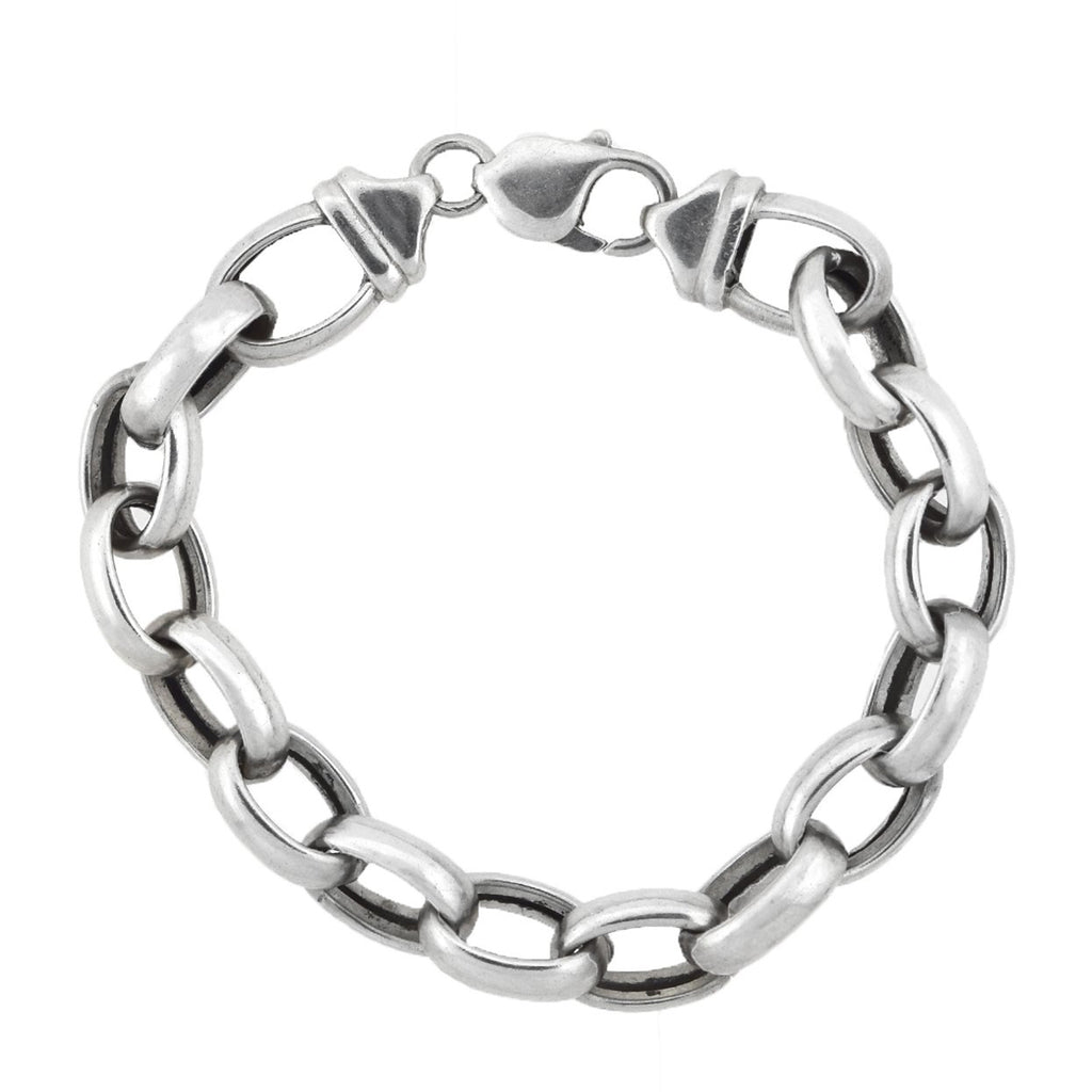 Vintage Sterling Silver Interlocking Link Bracelet