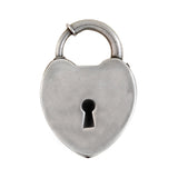 Victorian Sterling Silver Padlock Heart Pendant