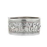"Victorian Sterling Silver ""REGARD"" Wide Bangle Bracelet"