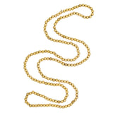 Victorian 14kt Yellow Gold Bead Necklace 27.5