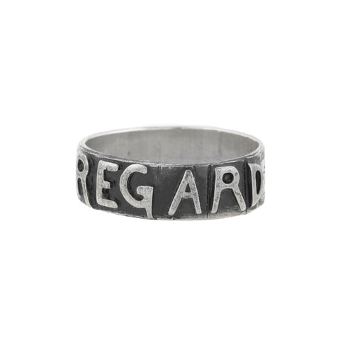 "Victorian Sterling Silver ""REGARD"" Band Ring"