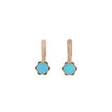 Vintage Russian 14kt Persian Turquoise Drop Earrings