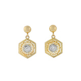 Edwardian 18kt/Platinum Diamond Filigree Earrings