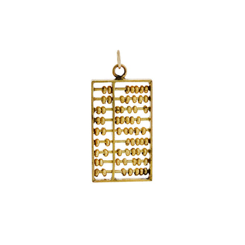 "Vintage 14kt ""Gold Dust"" Bottle Charm Pendant"