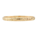 SLOAN & CO. Victorian 14kt Etched Bangle Bracelet