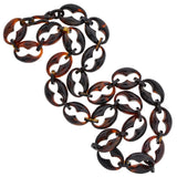 Victorian Tortoise Shell Anchor Link Chain Necklace 30.5