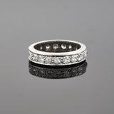 Late Art Deco Platinum Diamond Eternity Band 1.25ctw