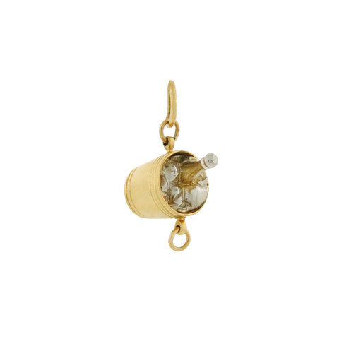 Retro 18kt Two-Tone Champagne Bucket Charm