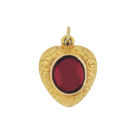 Victorian 14kt Carved Carnelian Watch Key Pistol Pendant