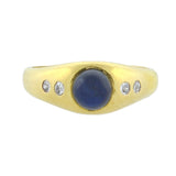 E.M. GATTLE & CO. Edwardian 18kt 5-Stone Sapphire + Diamond Ring