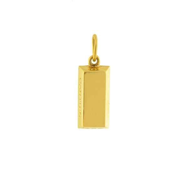 Cartier Estate 18kt Gold Bar Ingot Charm Pendant A Brandt Son