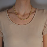 Vintage 14kt Graduating Yellow Gold Bead Necklace 17.5