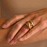 TESORO Estate Large 14kt Gold Ring