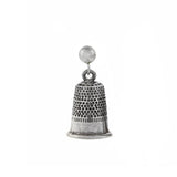 Vintage Sterling Silver Miniature Thimble Earrings