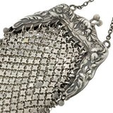 Victorian Sterling Silver Chatelaine Mesh Purse