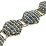 Arts & Crafts Hungarian Sterling Sapphire & Pearl Bracelet