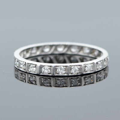 Art Deco Platinum & Diamond Eternity Band