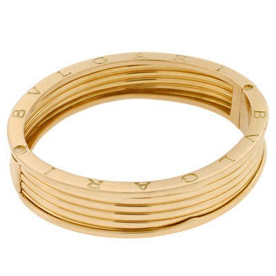 BVLGARI Vintage 18kt Heavy Gold Bangle Bracelet