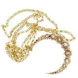 Victorian 18kt & Diamond Crescent Necklace 2.50ctw