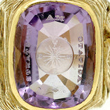 Victorian 18kt Yellow Gold & Amethyst Intaglio Ring