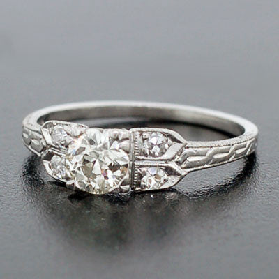 Art Deco Platinum & Diamond Engage Ring 0.60ct